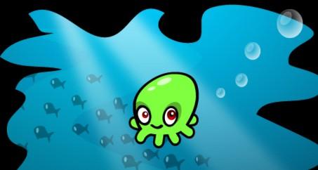 卡通章鱼简笔画彩色