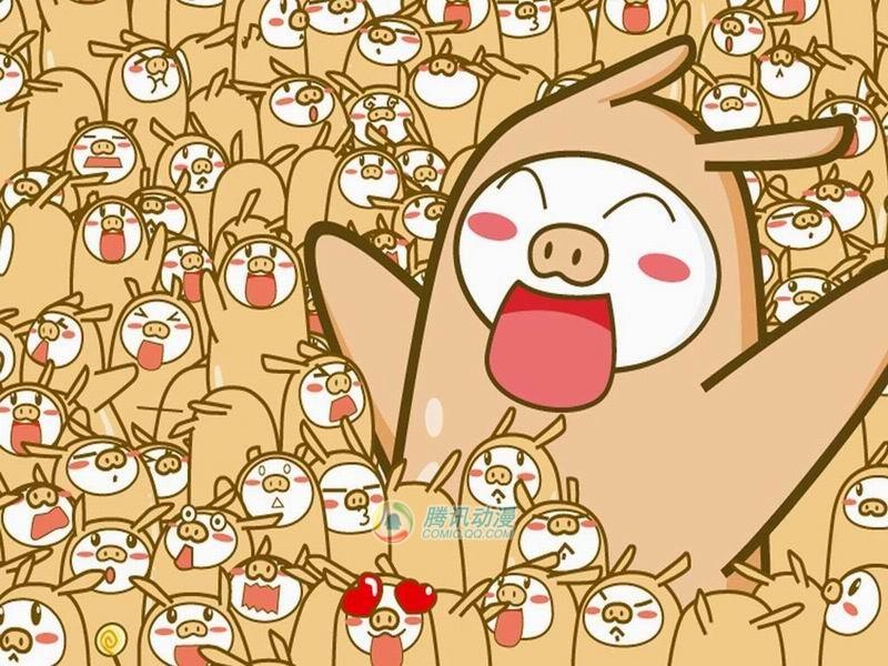 小猪拜年简笔画